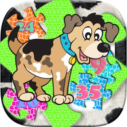 Cartoon Animal Jigsaw Collection Learning For Kids