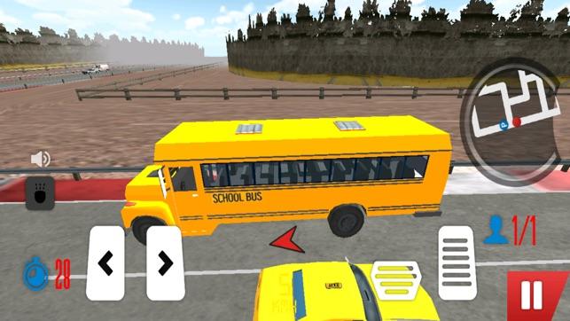 اتوبوس مدرسه بازی کودکان – درس اول مسابقه