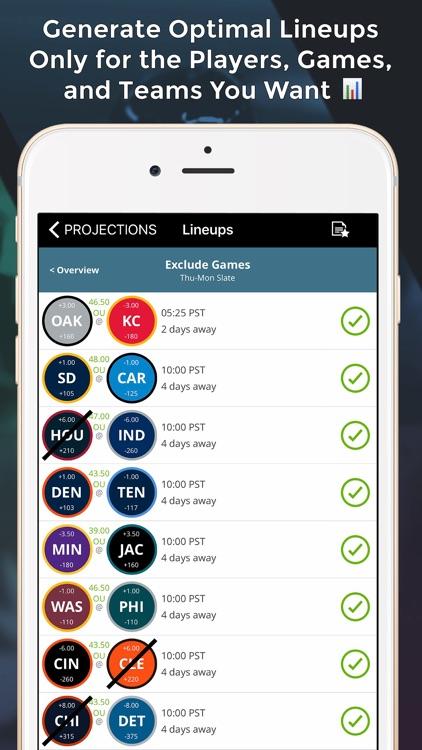 LineStar for FanDuel - Optimal Lineups 4 FD app image