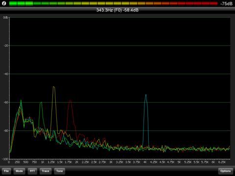 PocketRTA HD - Spectrum Analyzer screenshot 2