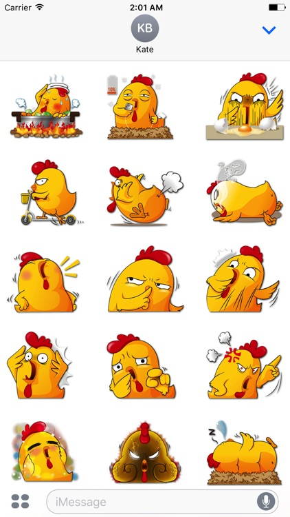 Funny Chicken Stickers