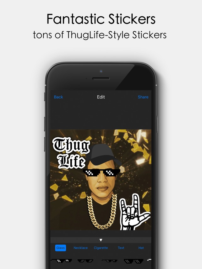 Thug life style video editor on the app store voltagebd Images