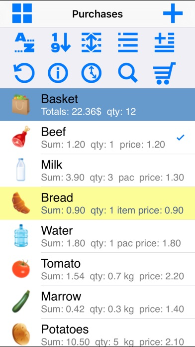 Grocery List Easy Shopping List review screenshots