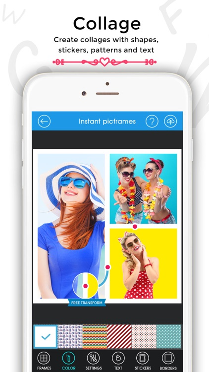 Instant pic frames - Photo Collage maker, Editor