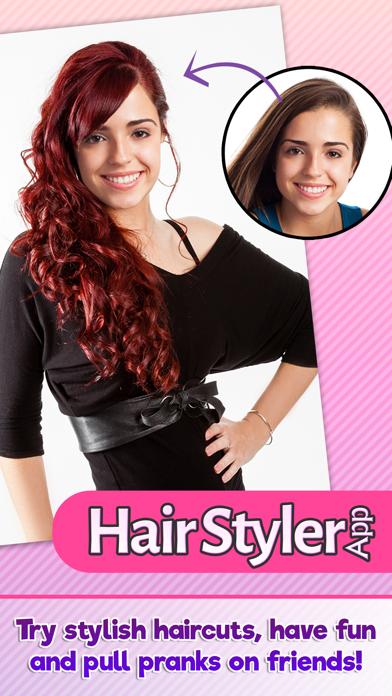 Estilista cabello probar peinados nuevo estiloCaptura de pantalla de1