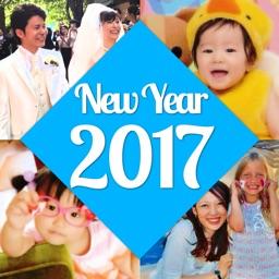 年賀状2017無料、こだわり写真年賀状2017