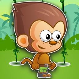 Cute Monkey Jumping