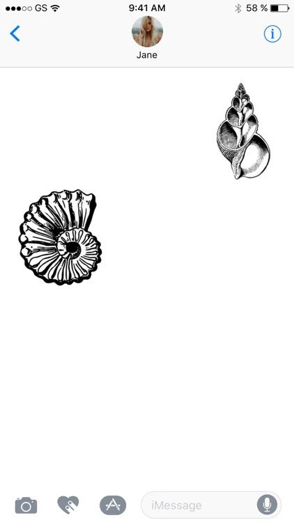 Seashell Stickers!