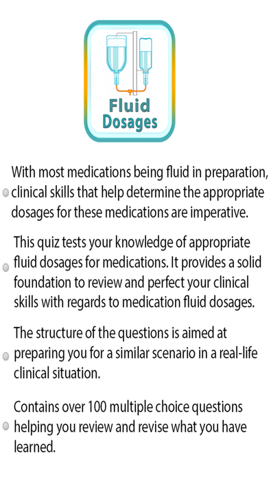 Fluid Dosages Quiz screenshot one