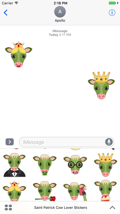 Saint Patrick Cow Lover Stickers screenshot-3