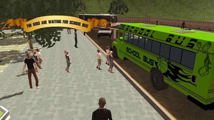 Crazy School Bus Driver 2017 screenshot-4
