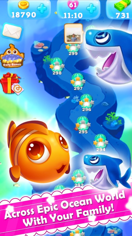 Charm Fish - Match 3 quest screenshot-4