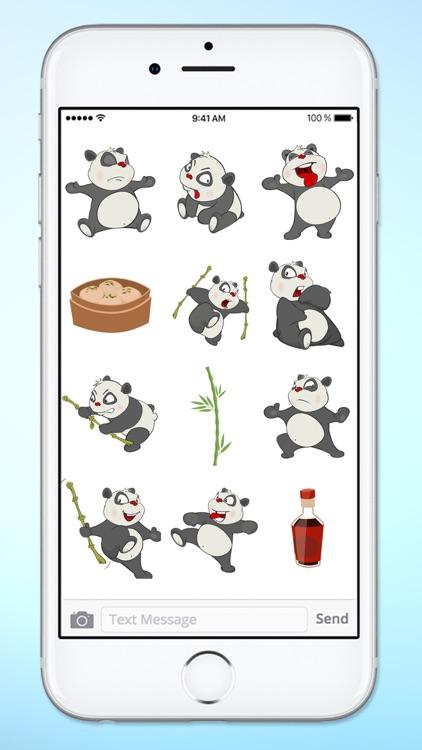 Fun Bamboo Panda Sticker Pack screenshot-3