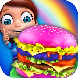 My Rainbow Burger Shop - Colorful Fast Food