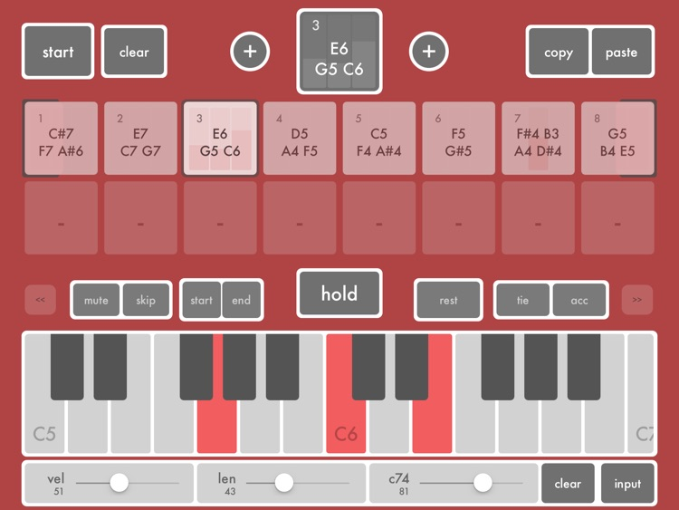 midiSTEPs - midi step sequencer toy screenshot-1