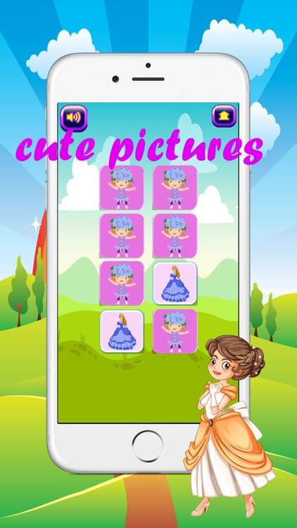 princess matching games for kids