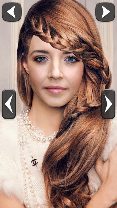 Estilista cabello probar peinados nuevo estiloCaptura de pantalla de2