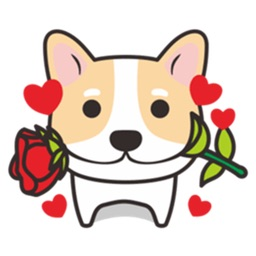 Many A Cute Dog Corgi Stickers