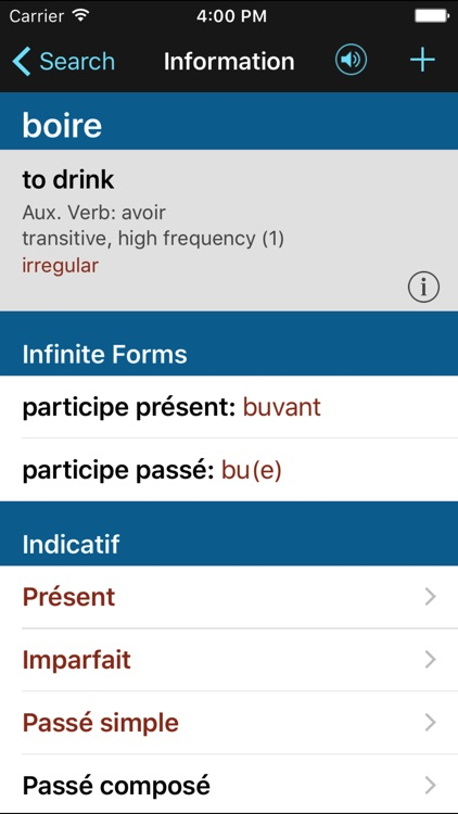 VerbForms Français Little