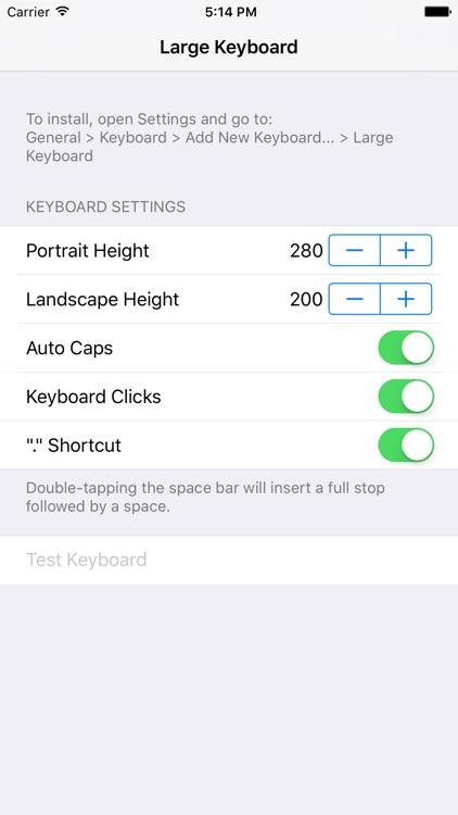 Larger Keyboard – Type Faster w Bigger XL Keys screenshot-3
