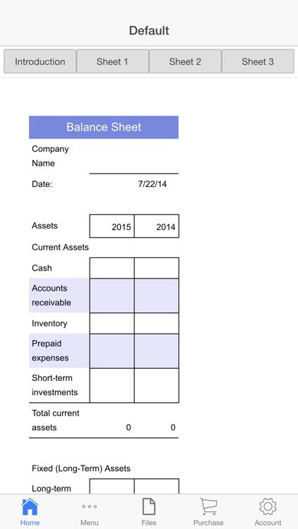Balance Sheet screenshot-0