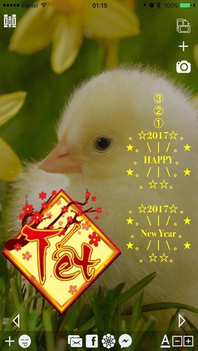 Làm thiệp Tết Xuân Đinh Dậu - Chụp hình Sticker screenshot three