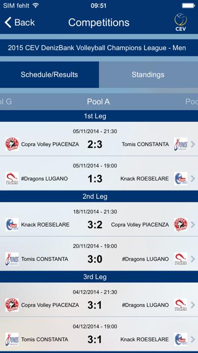 European Volleyball Screenshot
