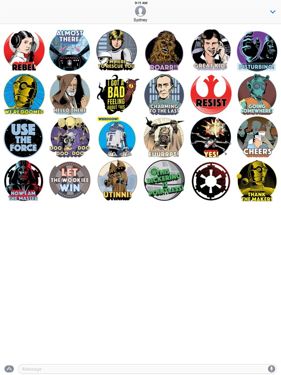 Star Wars Stickers: 40th Anniv screenshot 6