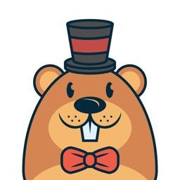 Happy Groundhog Day Stickers