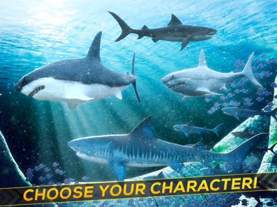 Sea Shark Adventure: Shark Simulator Game For Kids-ipad-2