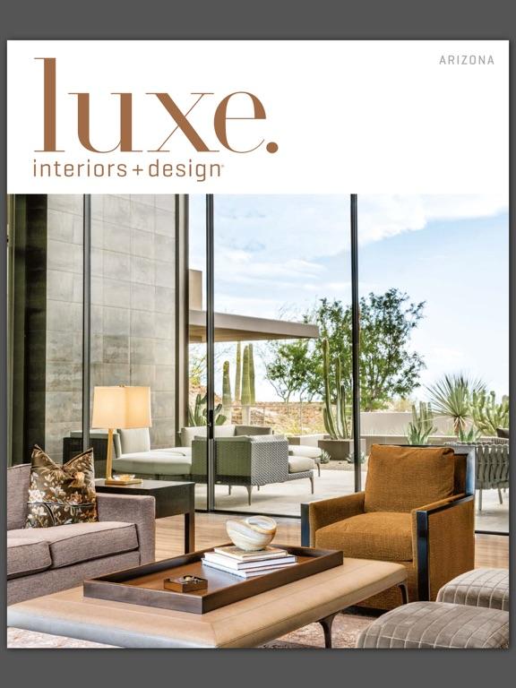 ... Luxe Interiors + Design Magazine Screenshot ...