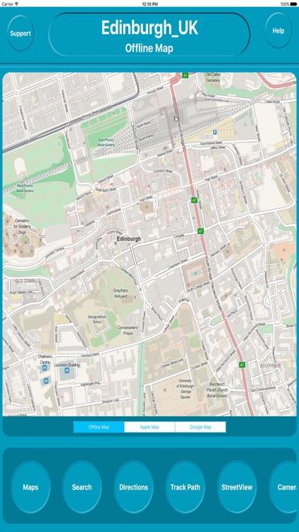 Edinburgh UK Offline City Maps Navigation