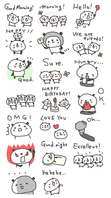 Cool Cool Panda Stickers!