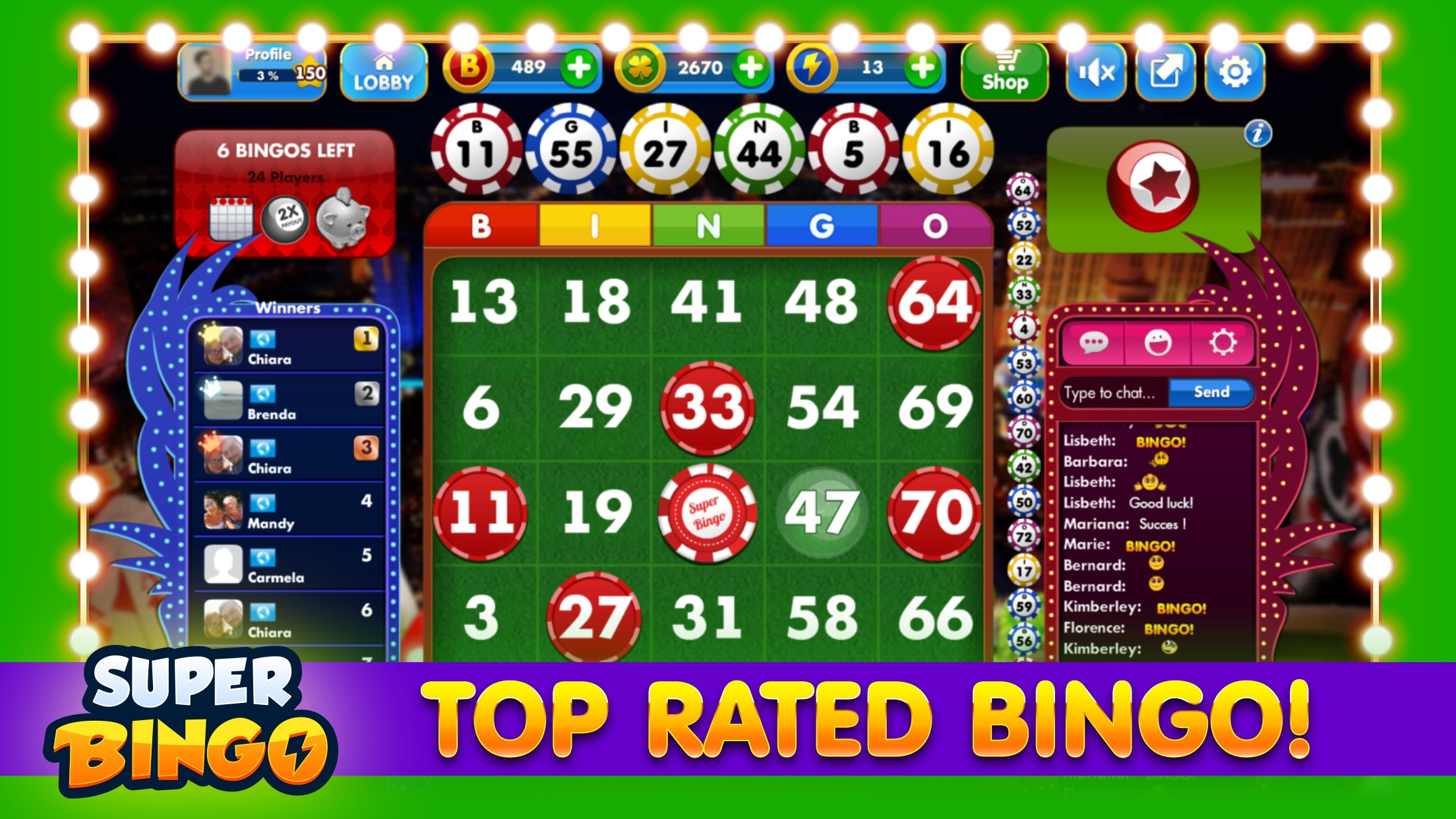 Super Bingo HD™ Screenshot