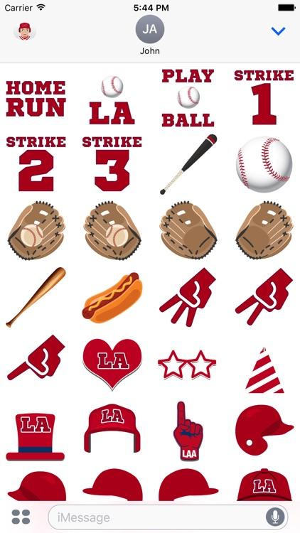 Los Angeles A Baseball Stickers & Emojis screenshot-3