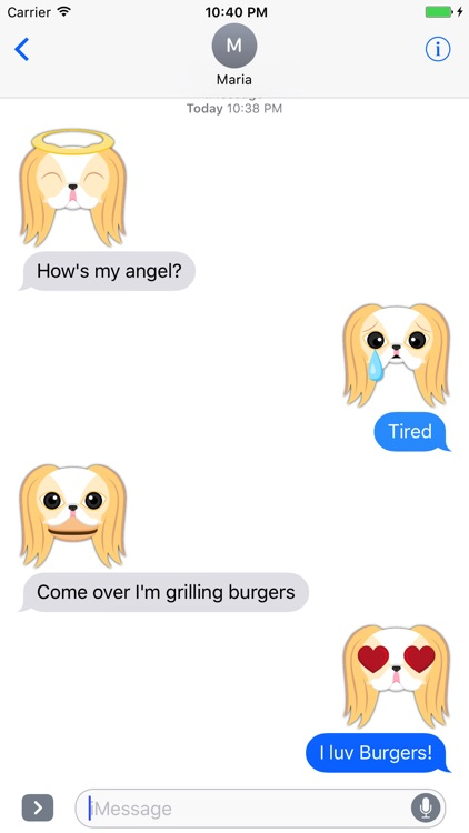 Blonde Lemon Japanese Chin Stickers for iMessage
