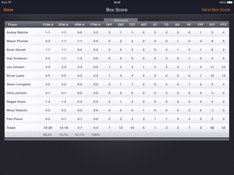 Basketball Stats PRO Lite - Tracking statistics screenshot-4