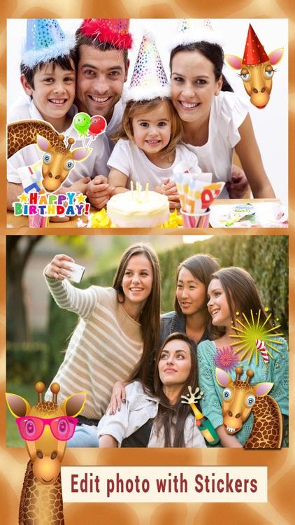 Giraffe Stickers- Animal pic Expression Sticker screenshot-3