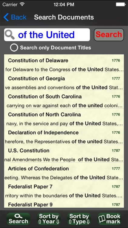 US Historical Documents
