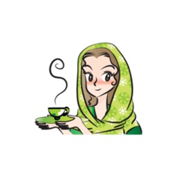 Green Scarf Beauty stickers by wenpei