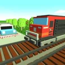 Activities of Train mania: Railroad crossing