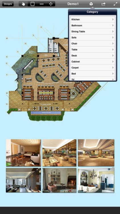 Home Office Design - floor plan & draft design