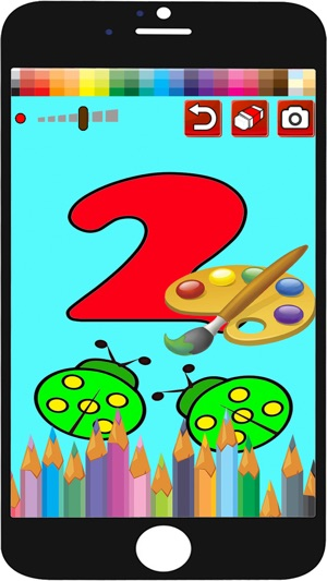 Kids Colouring Book Drawing Number 0-10 Game on the App Store