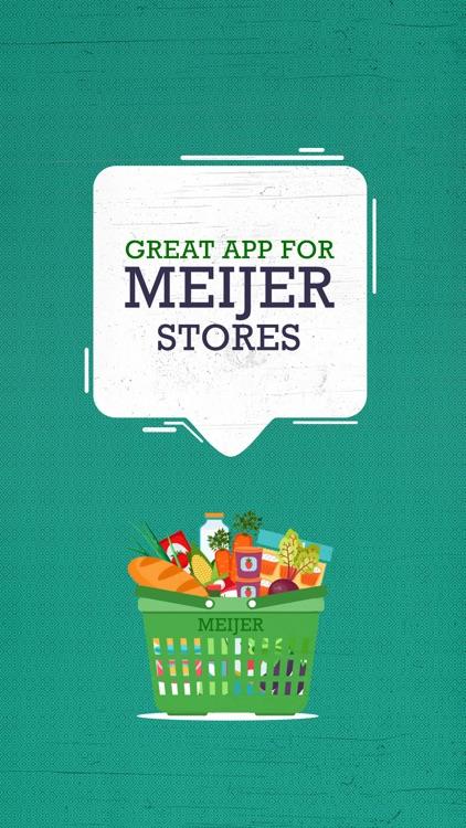 Great App for Meijer Stores