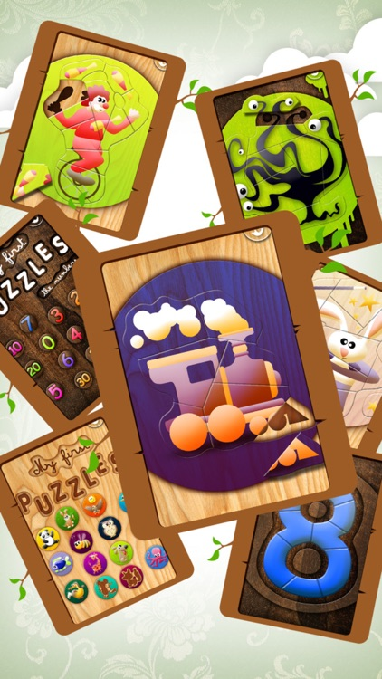Educational Wooden Puzzle Collection