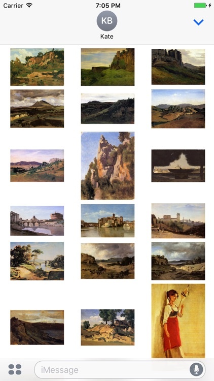 Camille Corot Artworks Stickers