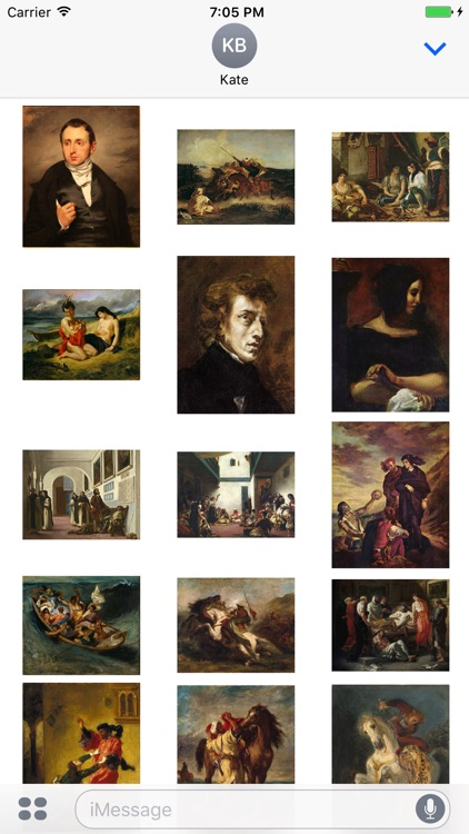 Delacroix Artworks for iMessage