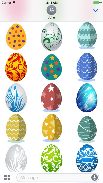 Easter Eggs Sticker for iMessage screenshot-3