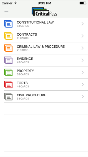 Critical Pass MBE Flashcards en App Store