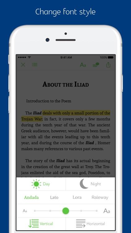 The Iliad - notes, sync transcript screenshot-3